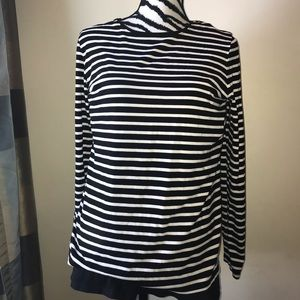 Chicos long sleeve T-shirt black and white size 12